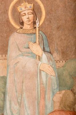032 Cathédrale Nanterre - Béatitudes - Beati qui es ...justitiam Détail