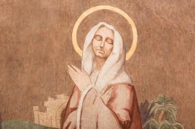 035 Cathédrale Nanterre - Béatitudes - Beati qui lugent Détail 1